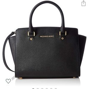 Black Michael Kors Selma Satchel
